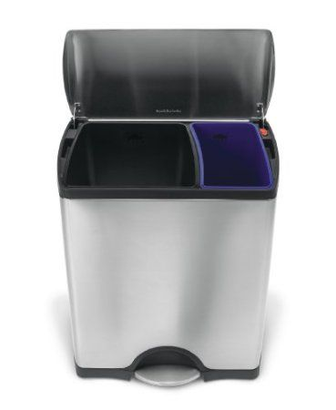 Garbage Recycling Combo Bin Clever Kitchen Trash Cans