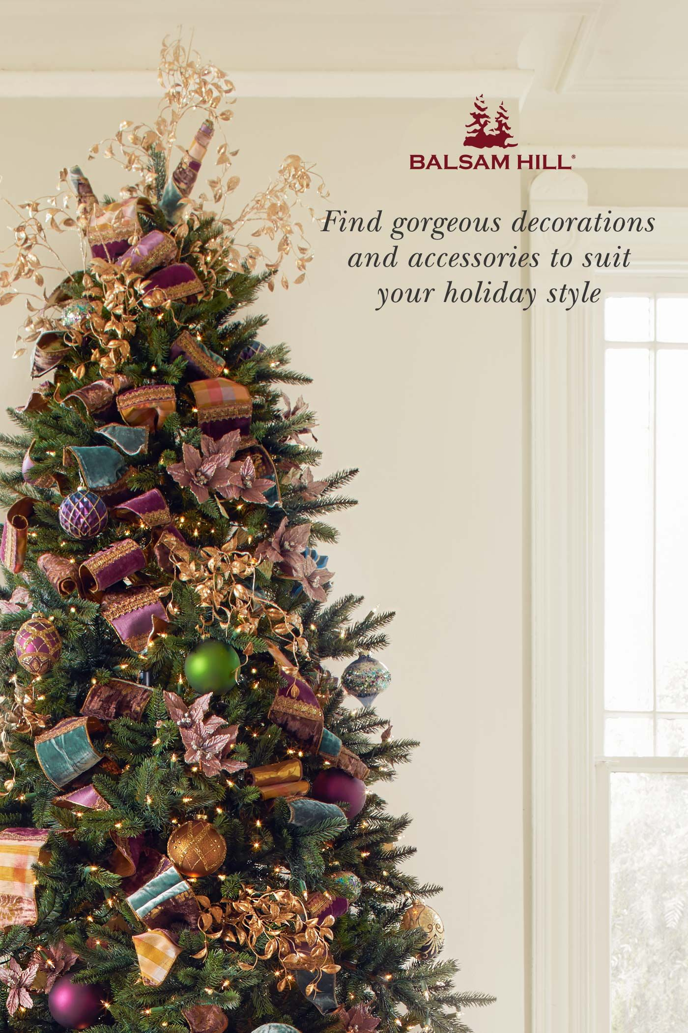 Balsam Hill Offers A Wide Range Of Christmas Decorations To Suit Your Holiday Style From Ele Christmas Green Christmas Tree Decorations Christmas Decorations