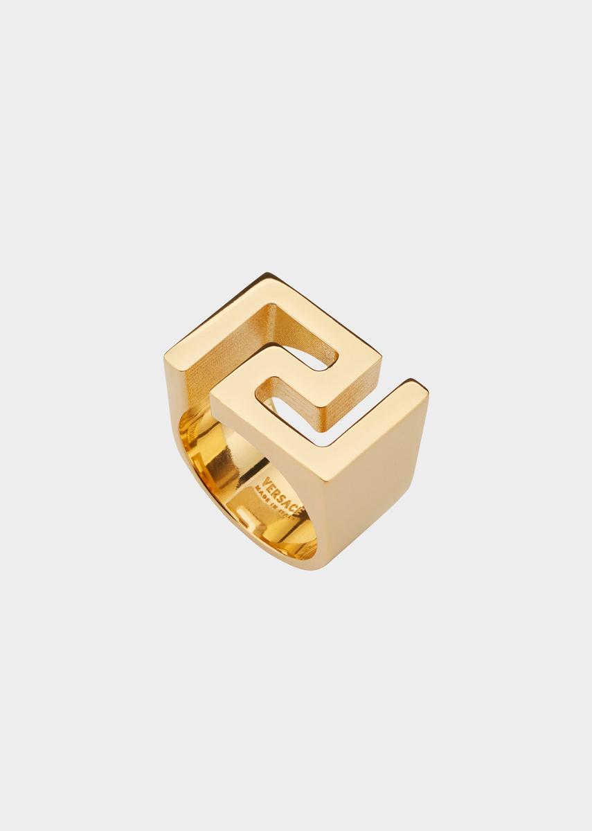 4e17c2d8ac8 Chevalière motif Greek Key - Versace Homme