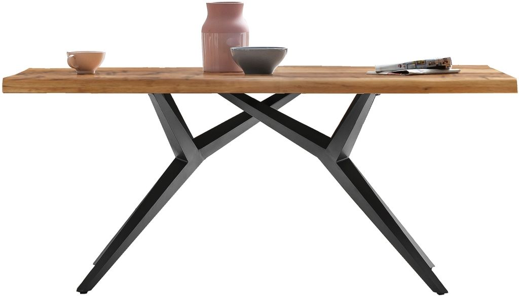 Esstisch 220 X 100 Cm Tops Tables Balkaneiche Eisen Antikschwarz