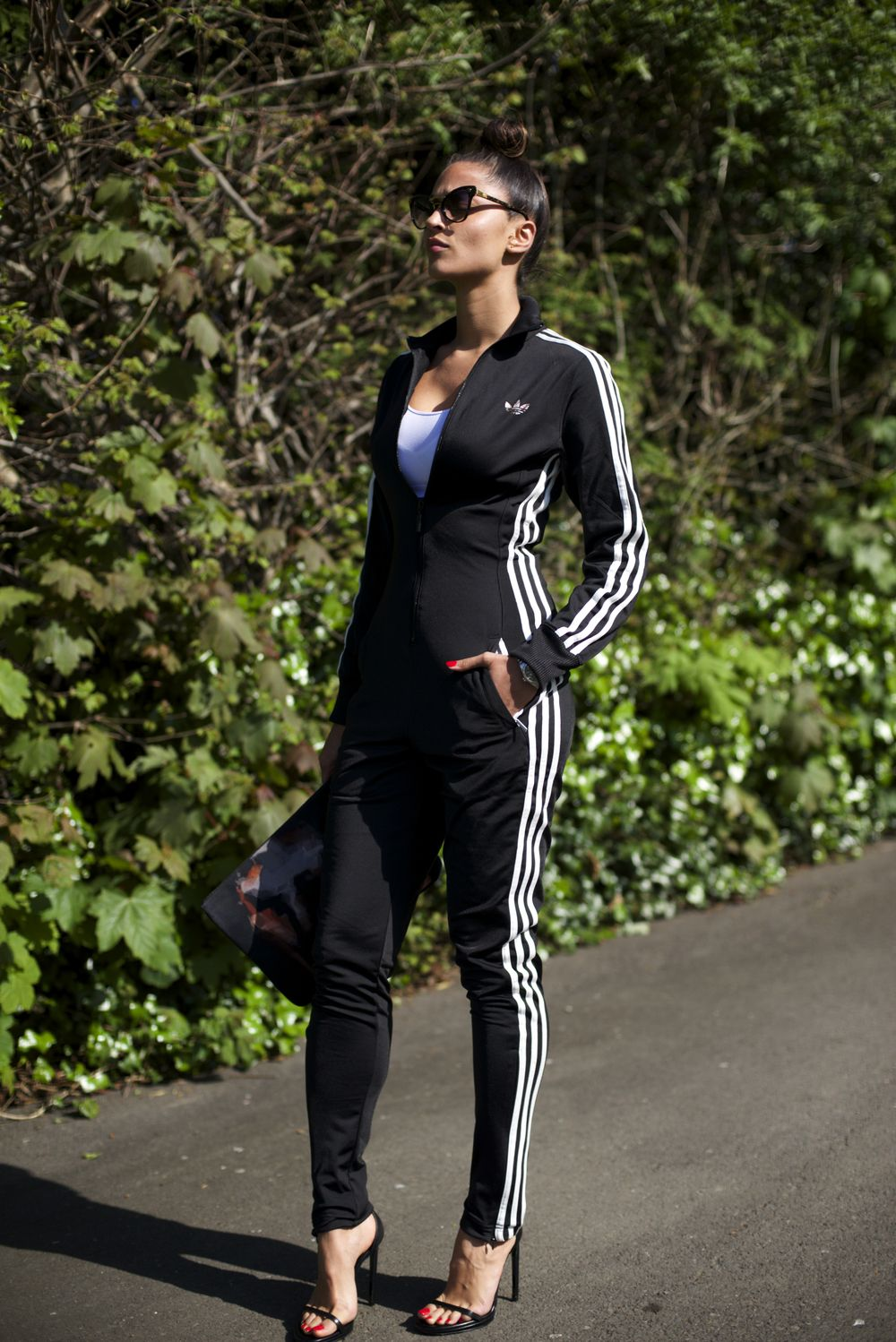 adidas gold jumpsuit