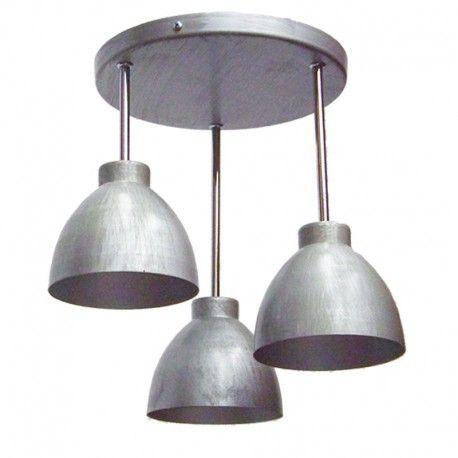 Todo Iluminación - Tienda Online de lámparas - Lámpara de techo Plafón en cromo y plata focos vintage