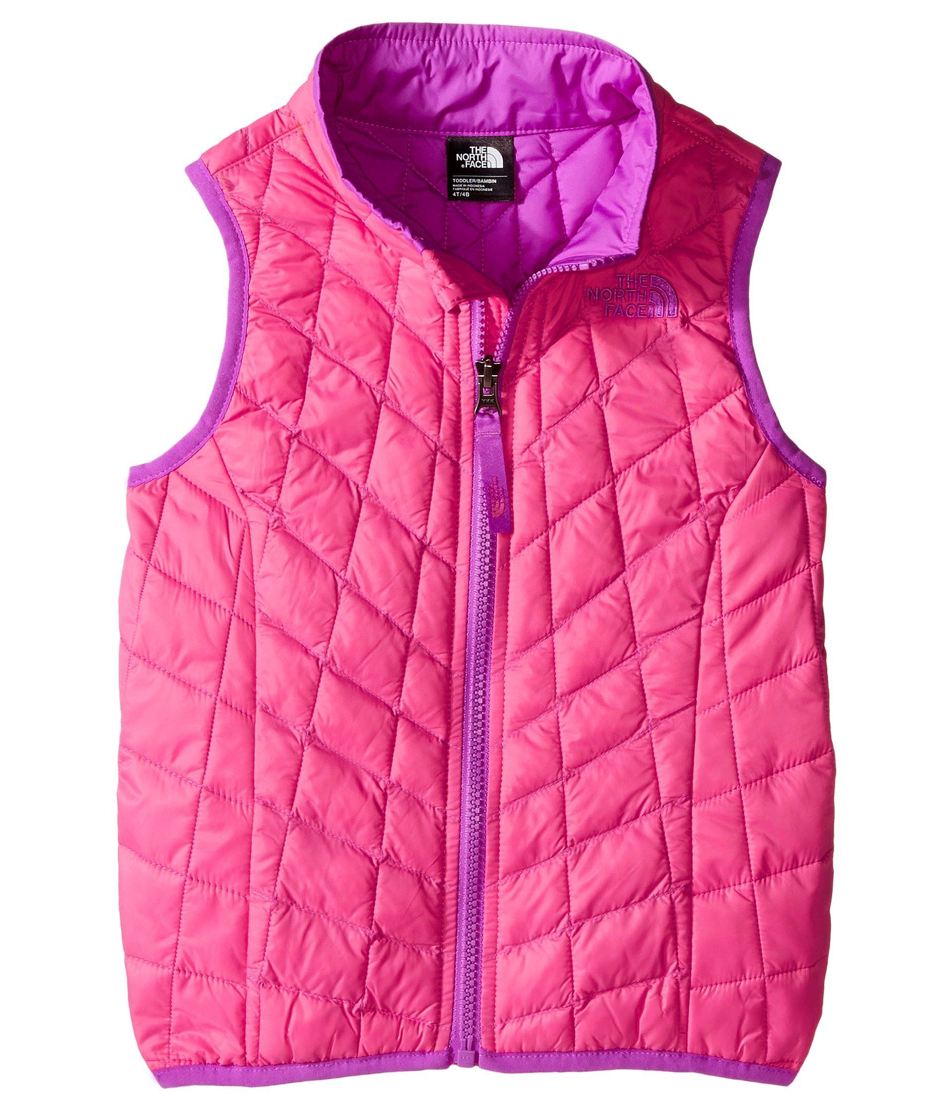 d02b69440 The North Face Kids ThermoBall Vest Toddler Cha Cha Pink Girl s Vest ...