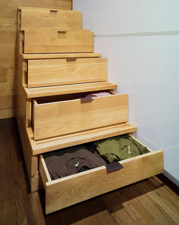 hochbett stufen holz schubladen statt kommode Einrichtung - dekorative regale inneneinrichtung