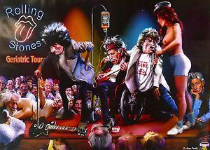 Rolling Stones Geriatric Tour Poster Original 1st Edition New16 Rolling Stones Tour Posters Rolling Stones Poster