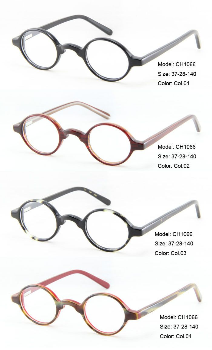 wholesale high quality round eyeglasses frames retro small glasses frames acetate for men and women suitable