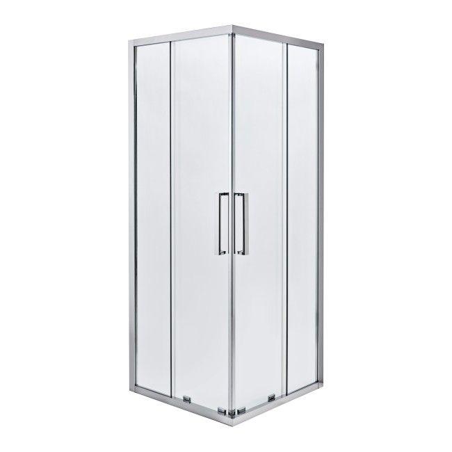 Kabina Prysznicowa Kwadratowa Zilia 90 X 90 X 200 Cm Inox Transparentna Kabiny Prysznicowe Shower Enclosure Locker Storage Tall Cabinet Storage