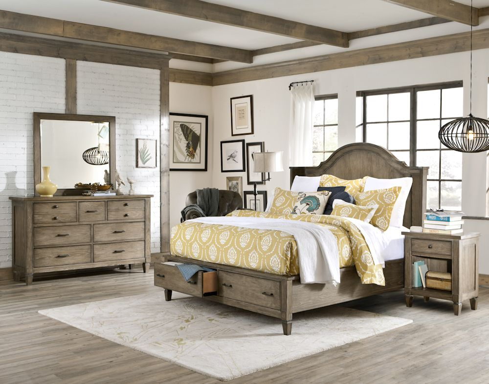 Shelter storage bedroom set with a natural wood finish by - Furnitureland south bedroom furniture ...