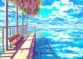 Kết quả hình ảnh cho anime phong cảnh huyền ảo