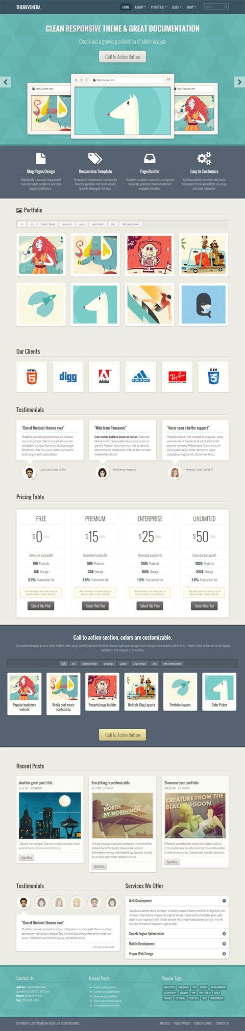 WordPress Themes: Responsive Design Premium Themes | Wordpress Themes | Graphic Design Junction