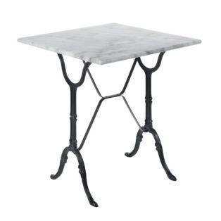 Table Carree En Marbre Blanc Noir Bistrot Les Tables De Cuisine Les Meubles De Cuisine Cuisine De Mobilier De Salon Meuble Deco Decoration Interieure