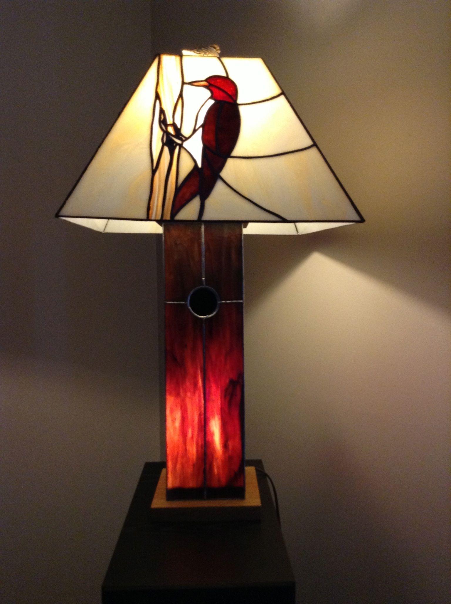 Lampe avec oiseau id es pour la maison pinterest for Fenetre a cardinal