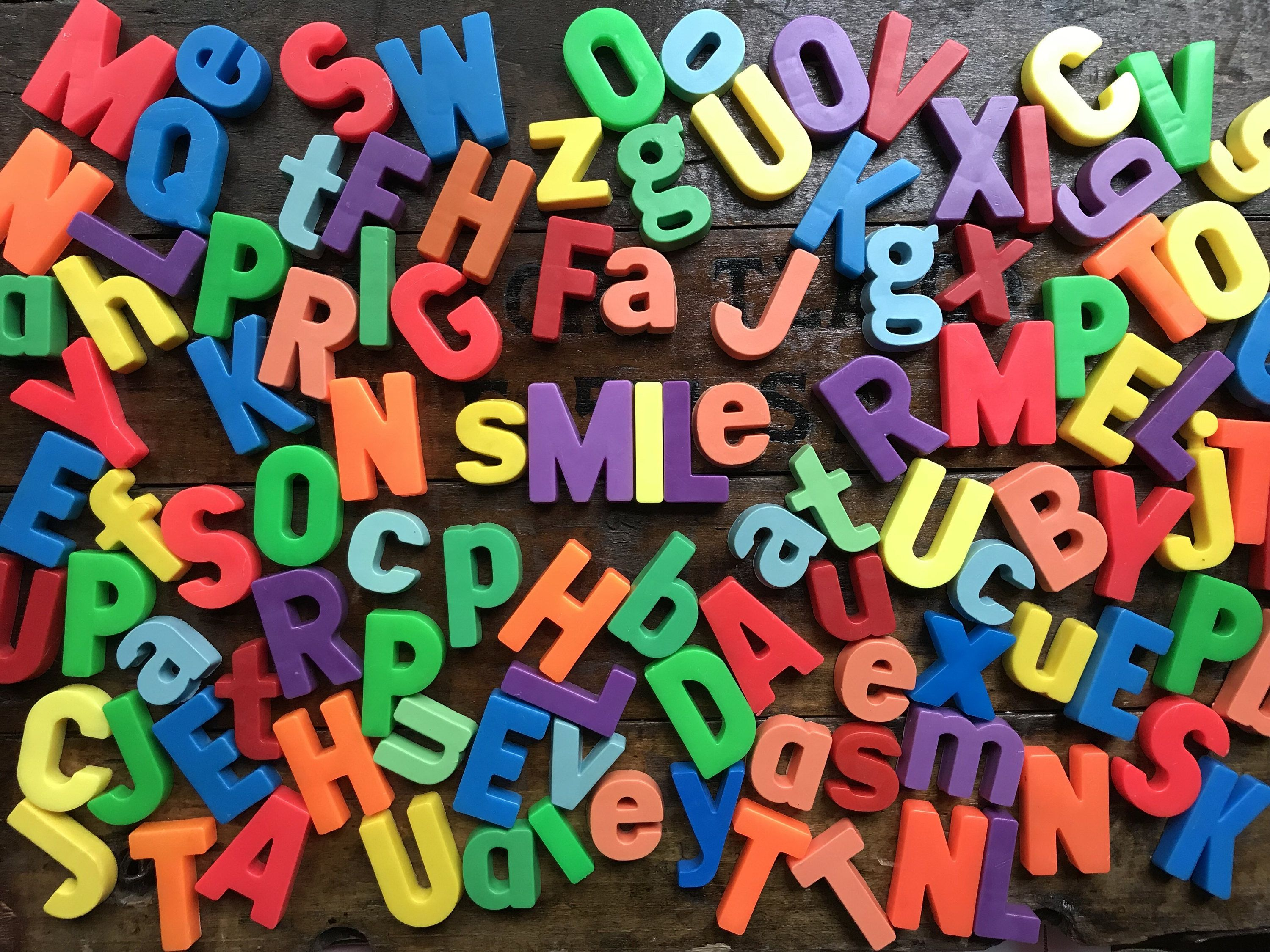 Fisher Price Letters Vintage Large Lot of 100