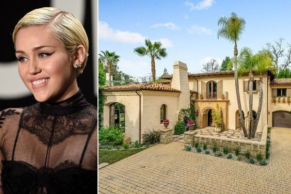 She S Just Being Miley Celebrity Houses Tuscan Style Mansions