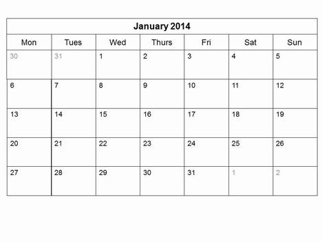 Free 2014 Monthly Calendar Template Slide2 Diy Crafts Pinterest