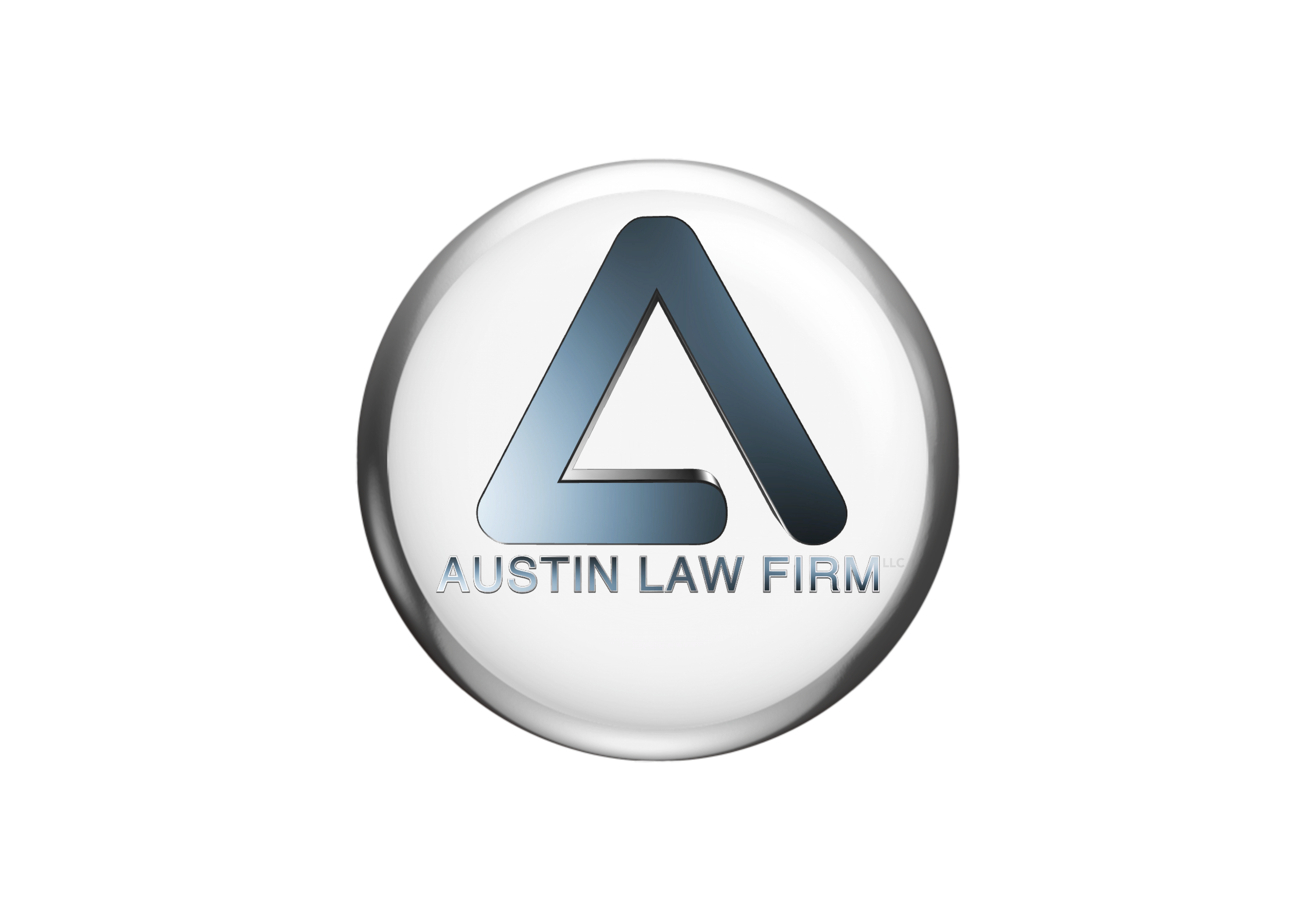 Simple, contemporary 3D logo created for Austin Law Firm