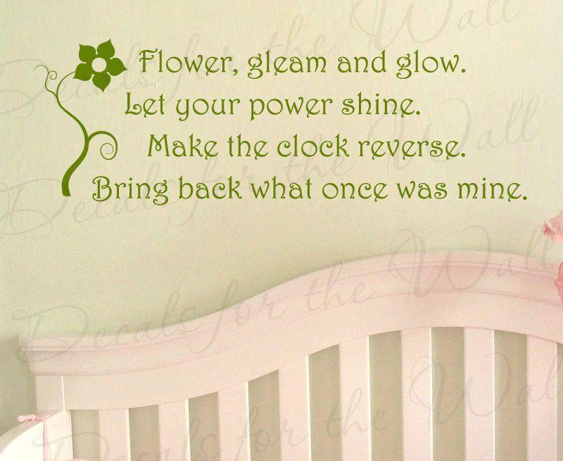 Tangled Rapunzel Disney Flower Gleam and Glow Girl or Boy Room Kid ...