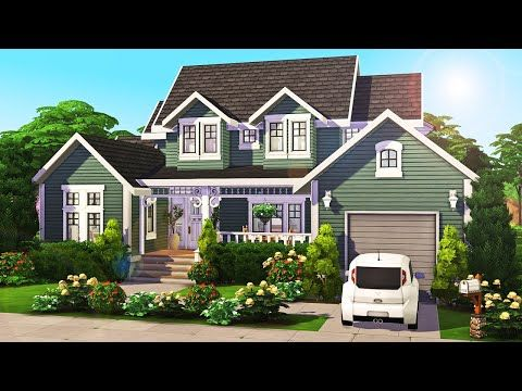 4 Sim Family Home 💚 The Sims 4 Speed Build