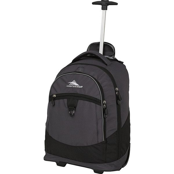 High Sierra Chaser Rolling Backpack - Mercury/Black - Rolling ...