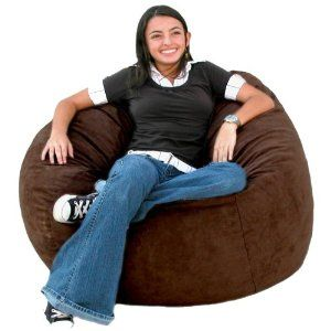 Super 3 Feet Chocolate Cozy Sac Bean Bag Chair Love Seat By The Ncnpc Chair Design For Home Ncnpcorg