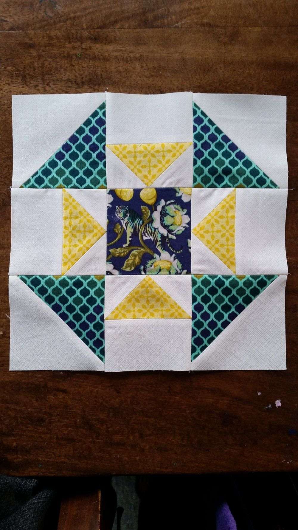 More fussy cutting Jess from Elven Garden Quilts made this