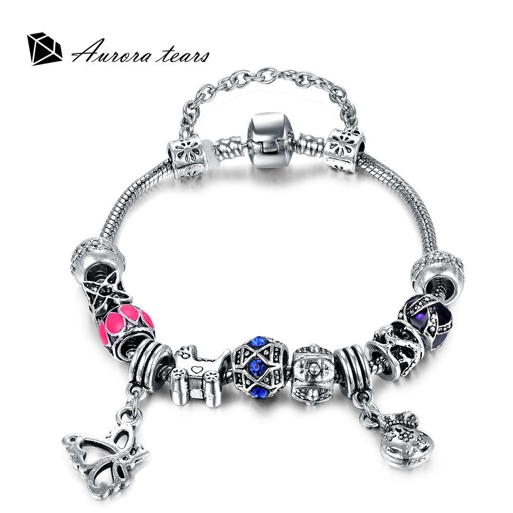 Unique female crystal stone bracelets u bangles wedding women