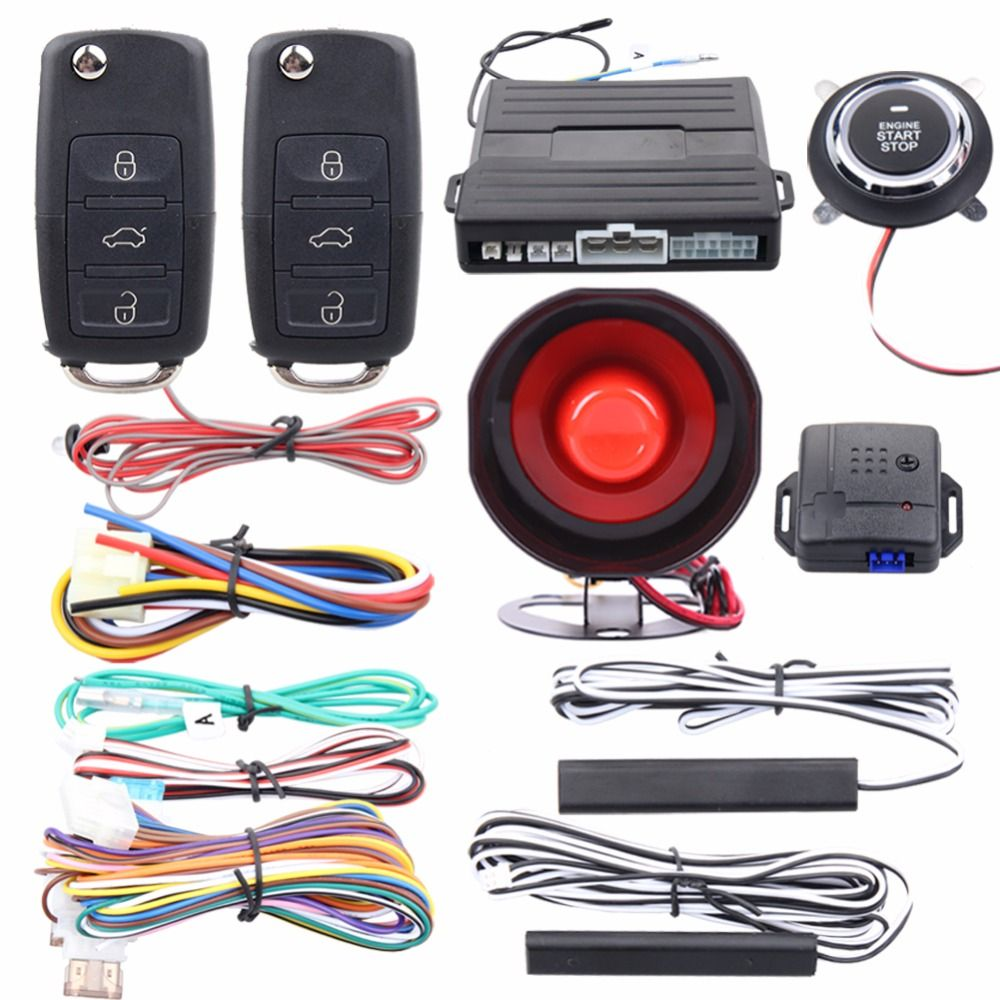 Quality Easyguard Pke Car Alarm System Passive Keyless Entry Kit Remote Engine Start Push Button