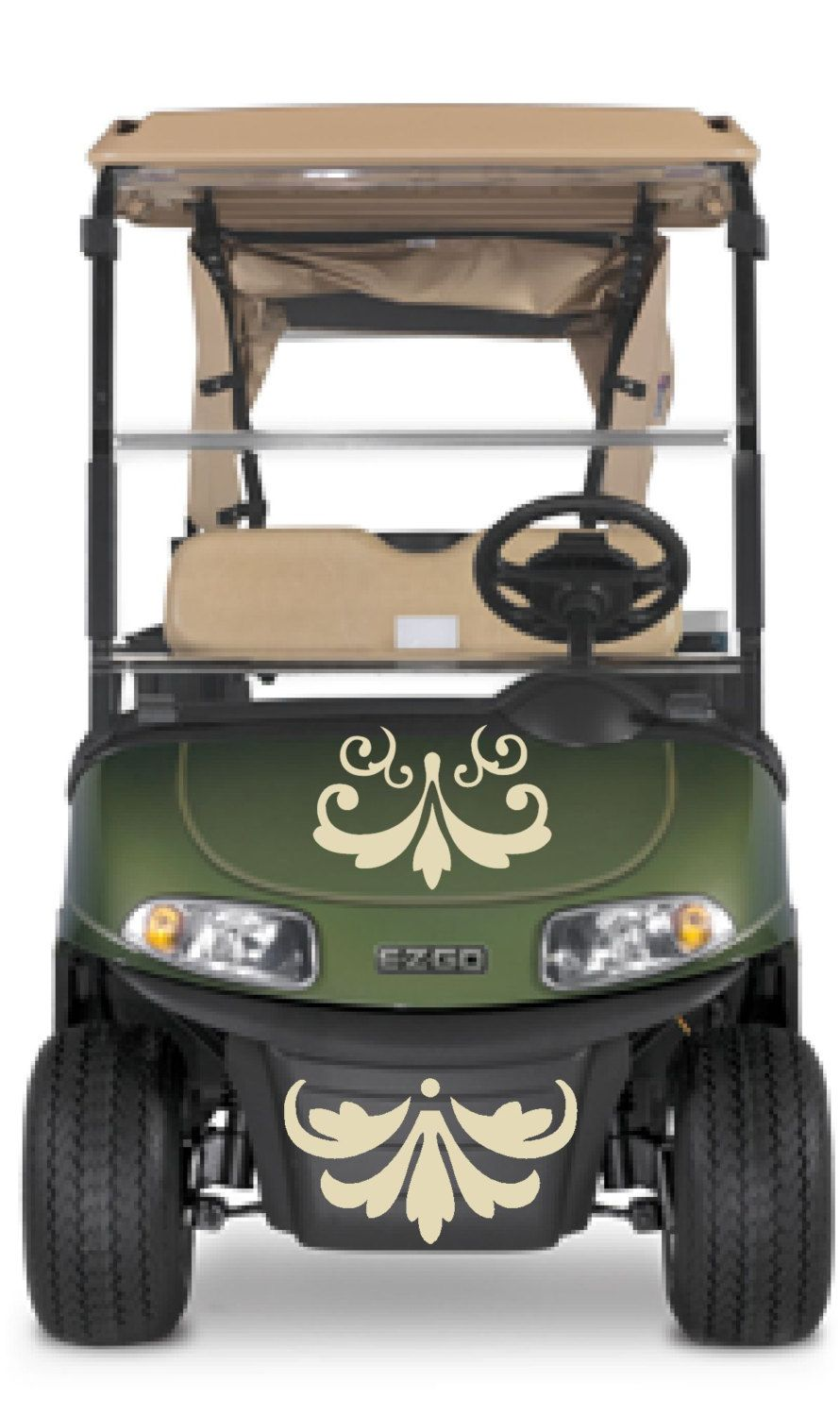 Gator Golf Cart Silhoette on
