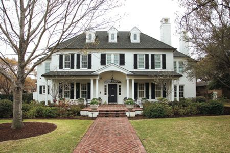 Colonial With A Front Porch Addition Lovely Colonial House Exteriors Colonial Exterior Modern Farmhouse Exterior
