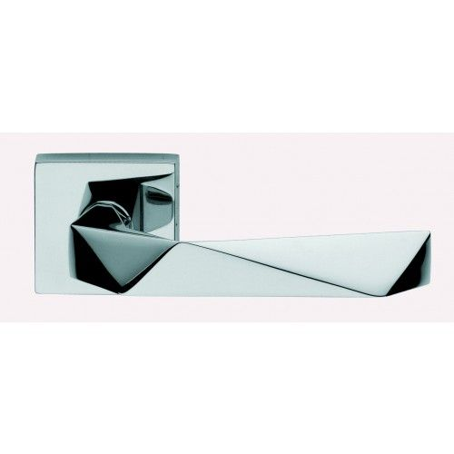 chrome dnd lever on square rose contemporary lever door handles ...