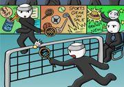 Cop Adam Badminton Oyunu Badminton Oyun Ayi