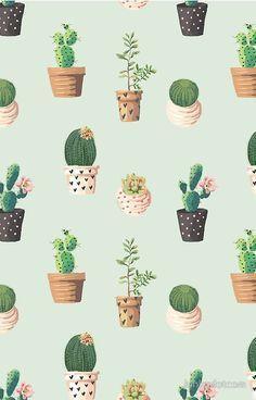 Cactus Pattern iPhone Case by junkydotcom