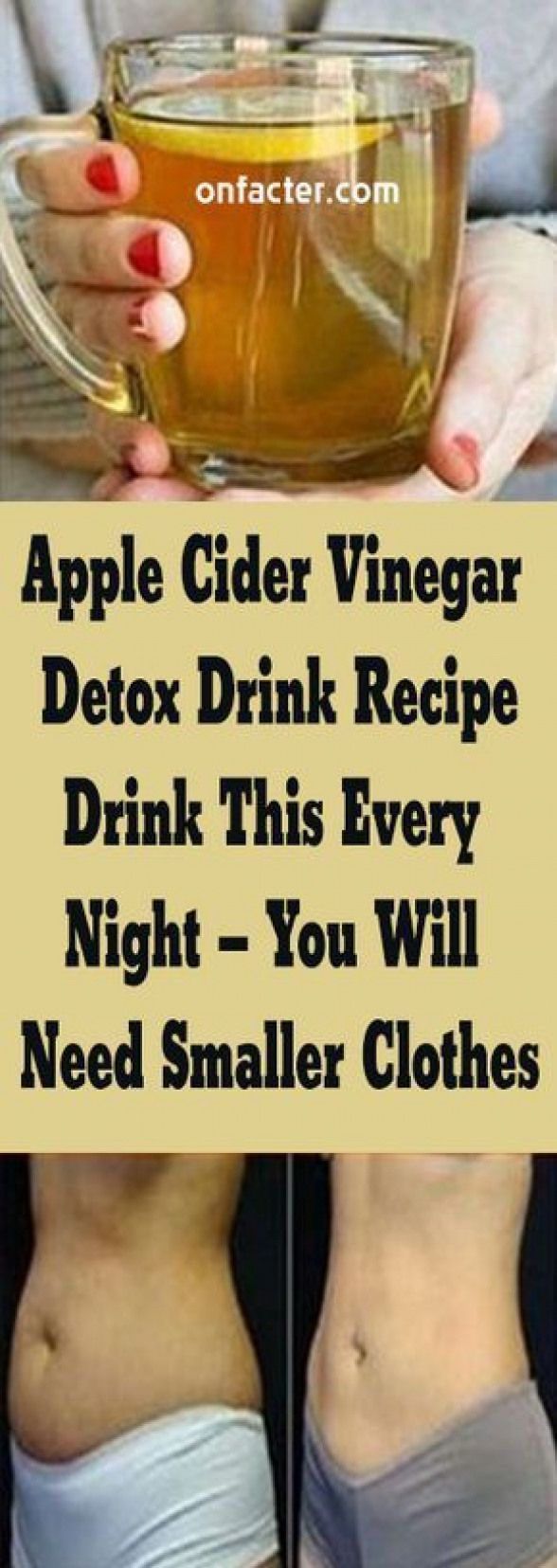 Apple Cider Vinegar Detox Drink Recipe:- Drink This Every Night  You Will Need Smaller Clothes