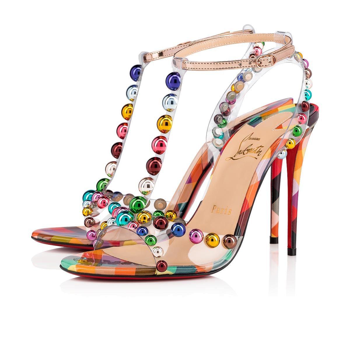 bfc32cb4a75a Faridaravie 100 Version Multi Patent Cinestripes - Women Shoes - Christian  Louboutin