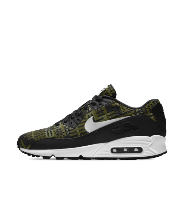f211ad50b76 Hot Sale Nike Mens Air Max 90 EM iD Grey/Green/Black/White Shoe ...