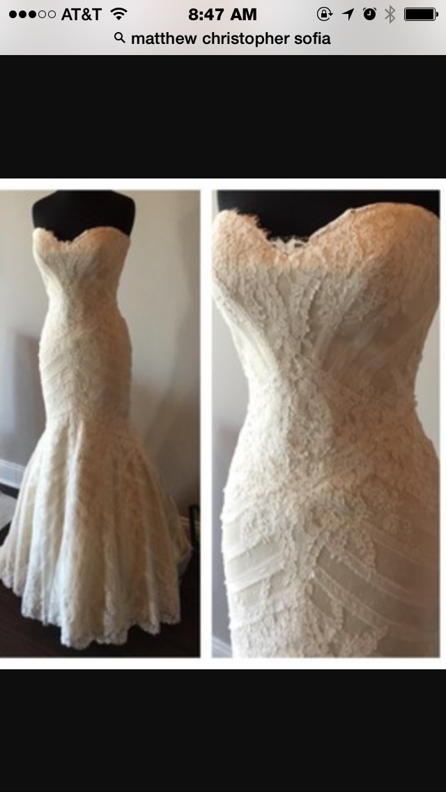 Matthew Christopher Sophia pre owned wedding gown size 10 email me ...