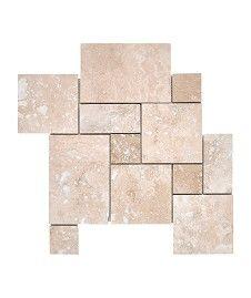 Travertine Modular Filled and Honed Mosaic Tile
