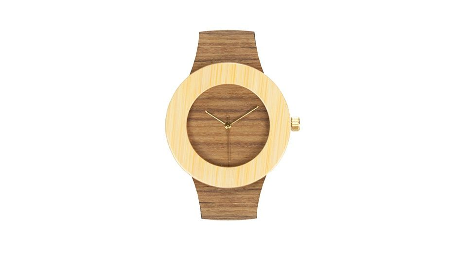 Monoqi Teakholz Bambus Uhr Relojes Pinterest