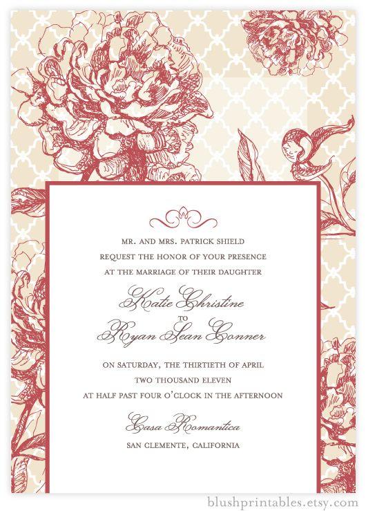 pretty invitation vintage garden by blush printables share