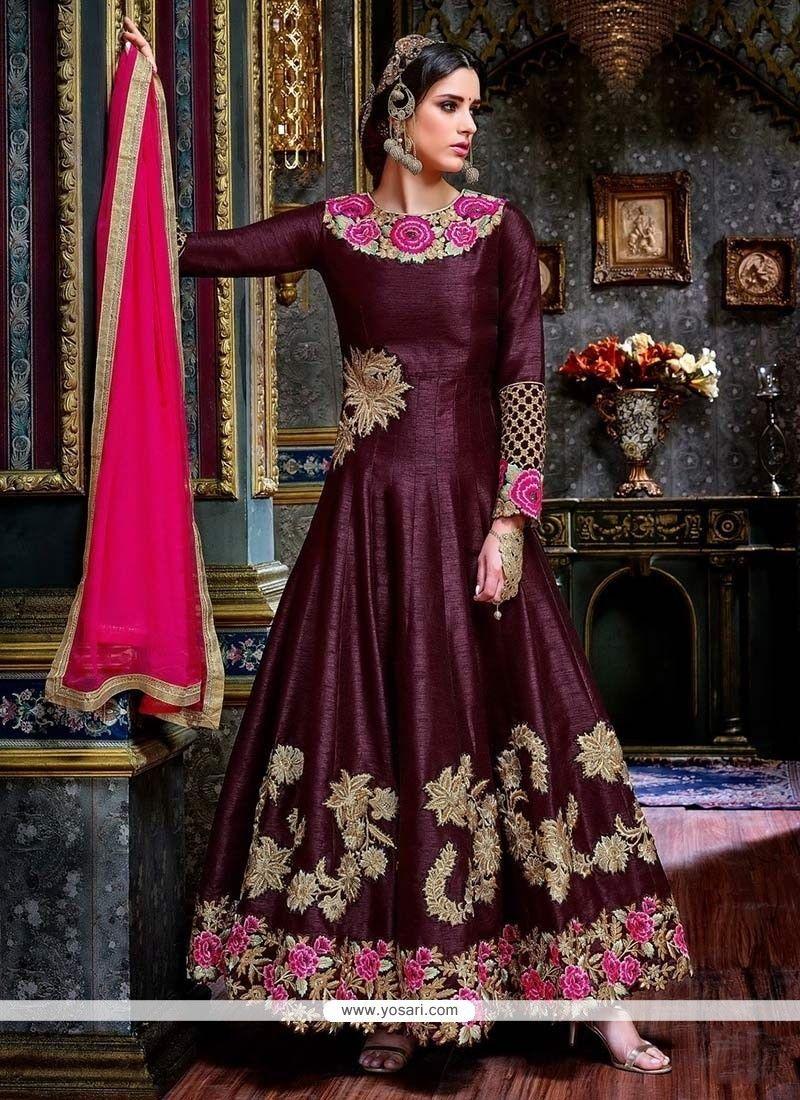 4f1e54324c Silk Anarkali Suits, Anarkali Dress, Lehenga Choli, Pakistani Salwar  Kameez, Salwar Kameez