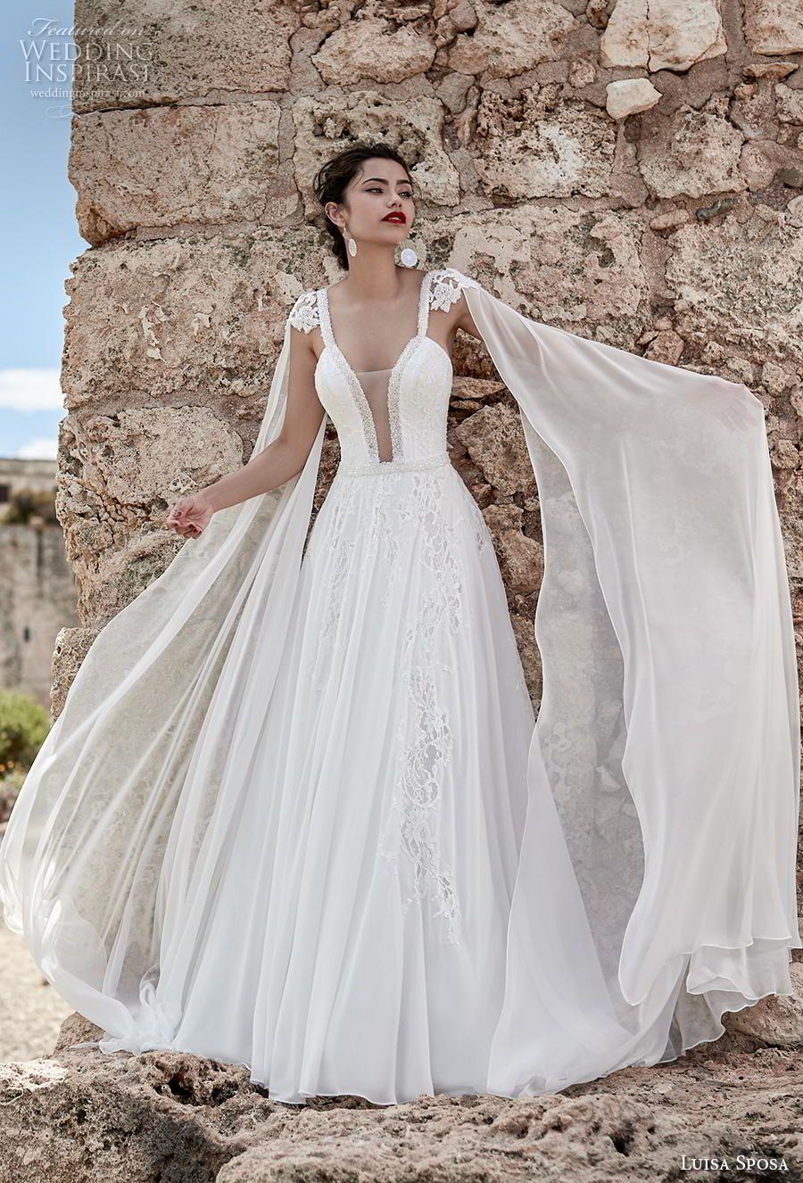 Luisa Sposa 2020 Wedding Dresses Wedding Inspirasi Grecian Wedding Dress Goddess Wedding Dress Wedding Dresses [ 1326 x 900 Pixel ]