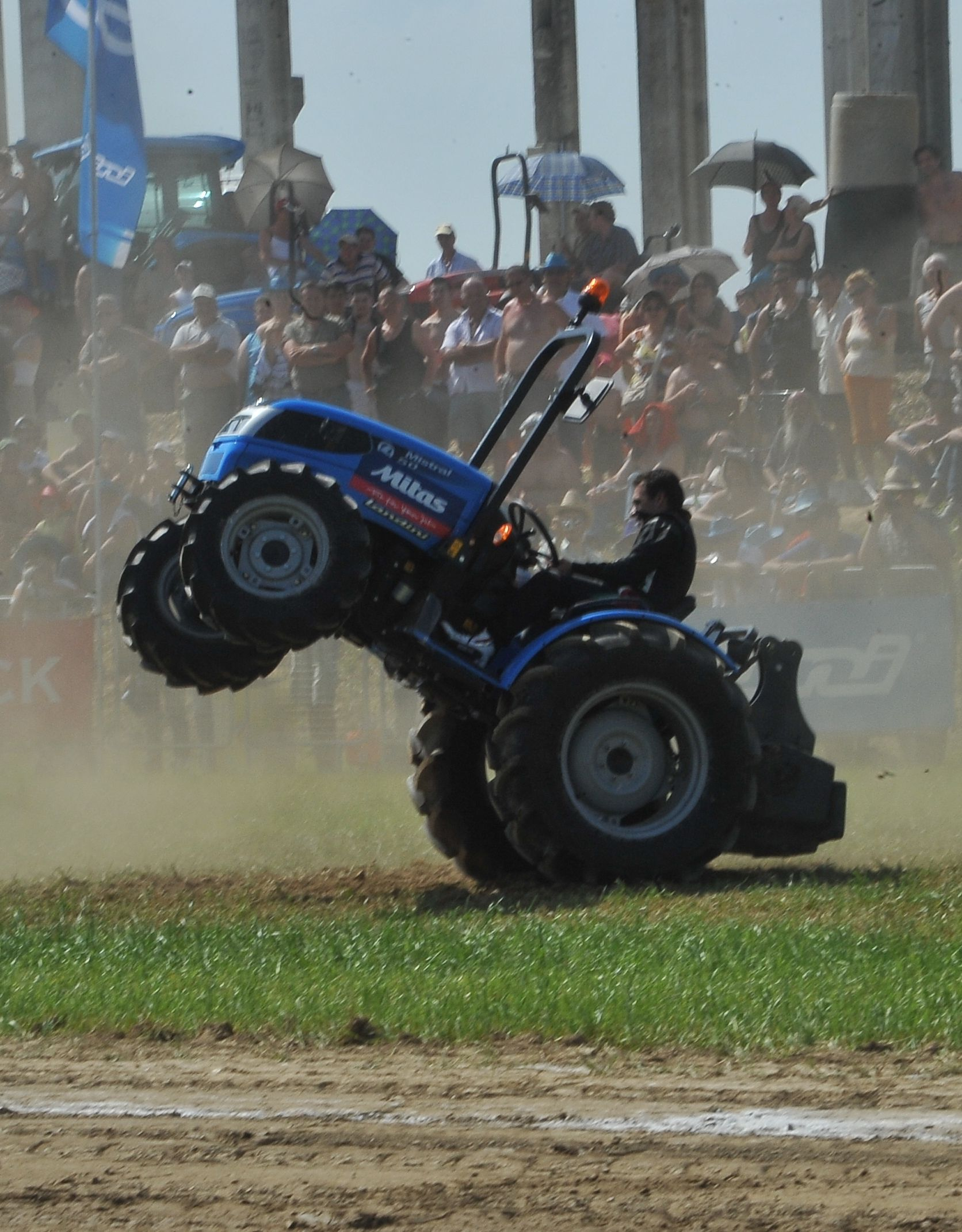 Wheelie Landini tractor.