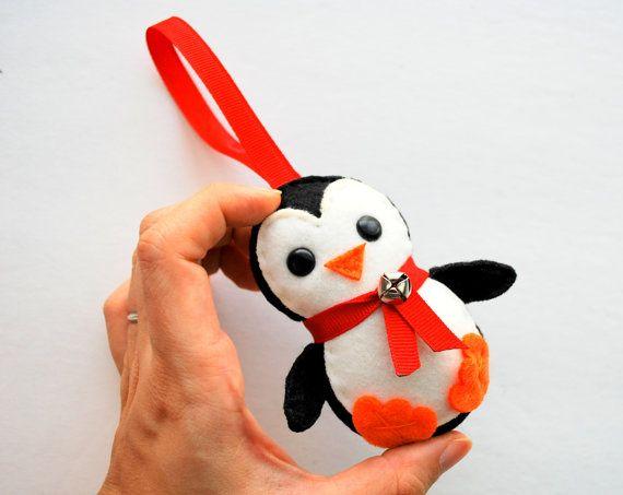 Penguin Ornament, Baby winter Penguin, Felt Christmas Ornament ...