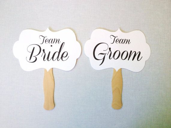 Team Bride Team Groom Photo Booth Props  Wedding by CleverMarten