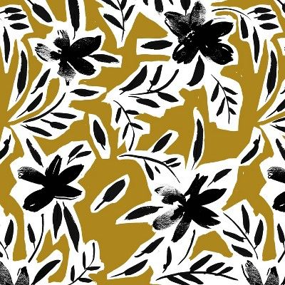 Hendrix Dining Chair Cari Floral Ochre - Cloth & Co, #surfacepatterndesign