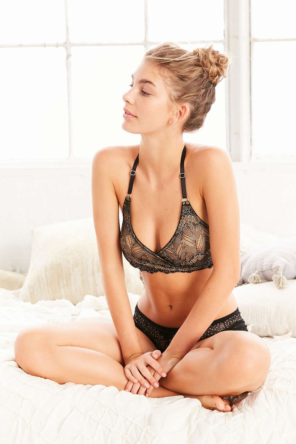 0f3a288780 Madalynne For Out From Under Sierra Lace Wrap Bra - Urban Outfitters