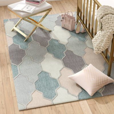 Willa Arlo Interiors Galya Teal Area Rug is part of Eclectic Living Room Teal -