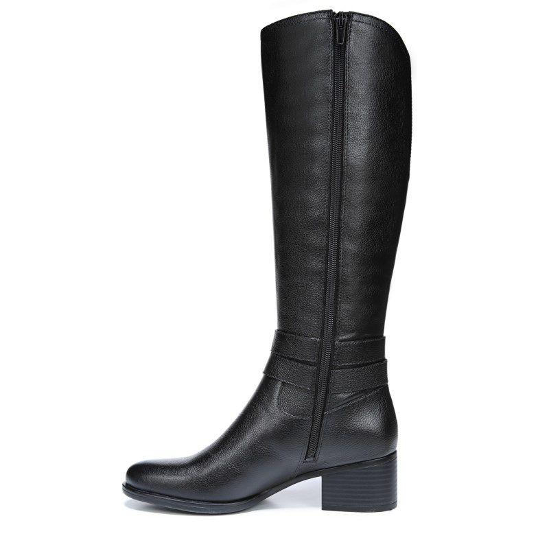 c35206b726fe Naturalizer Women s Kim Wide Calf Medium Wide Riding Boots (Black)