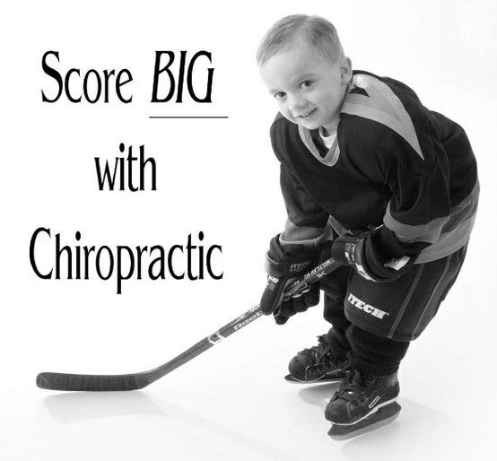 Grant's pro Chiropractic hockey ad