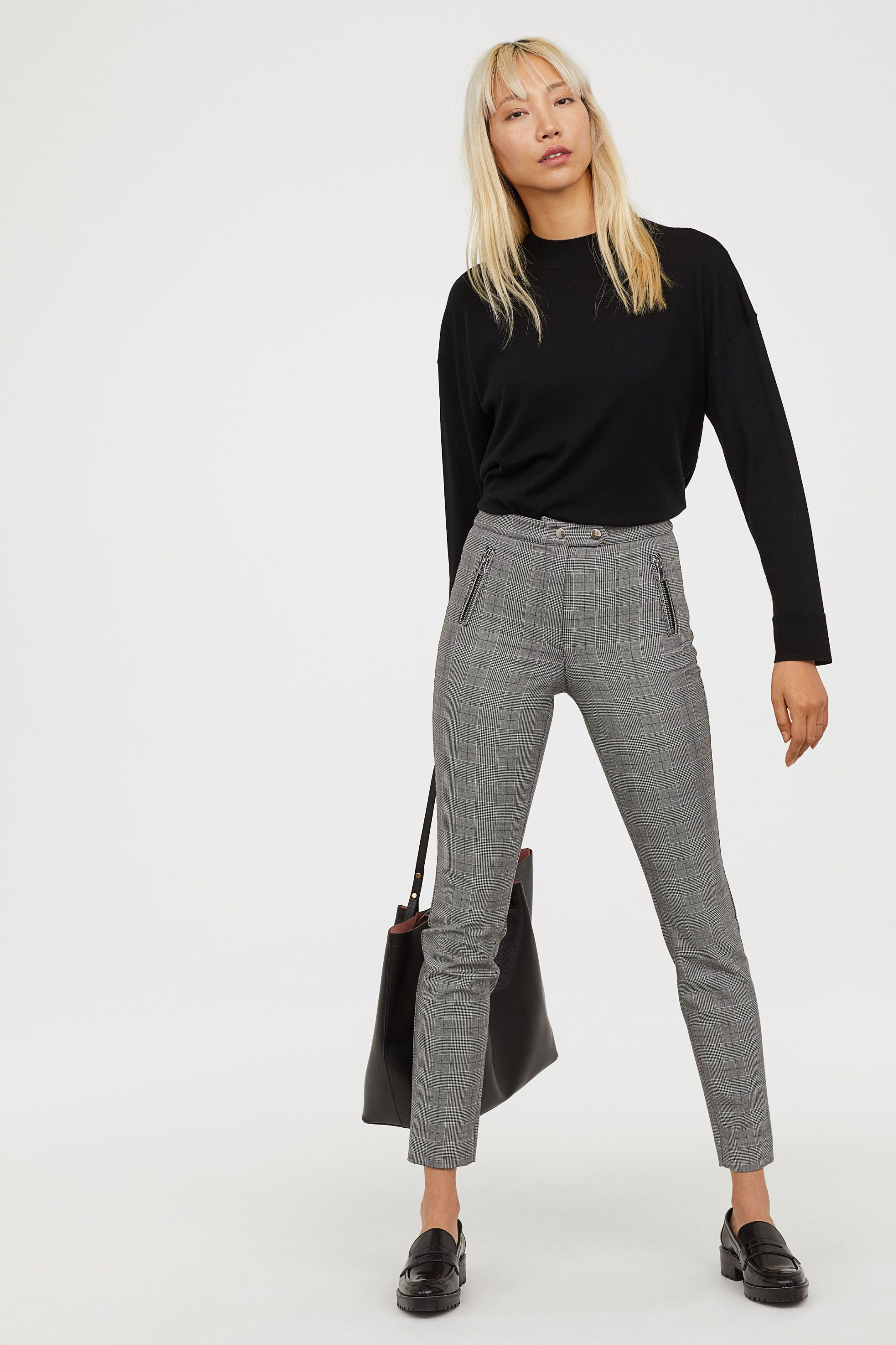 Fitted slimfit pants casual work outfits business